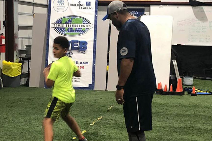 Quarterback Football Training by Kansas City Athlete Training for both youth and high school athletes with group classes and private training along with camps and speed and agility classes for all sports and athletics in Kansas City Missouri