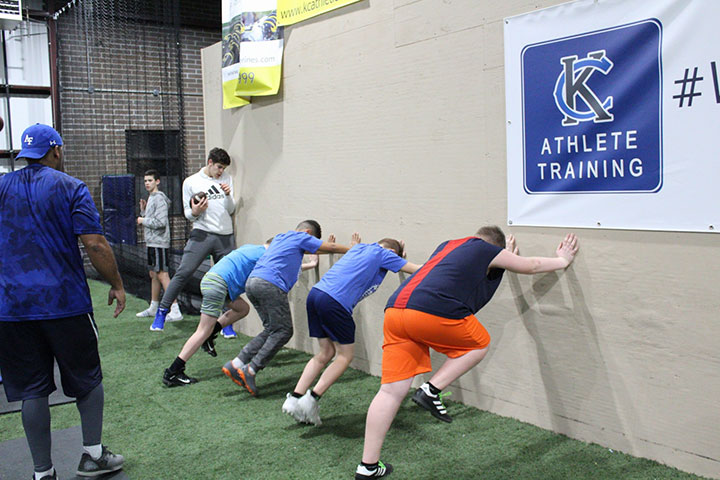 Advanced Training Class by Kansas City Athlete Training for both youth and high school athletes with group classes and private training along with camps and speed and agility classes for all sports and athletics in Kansas City Missouri