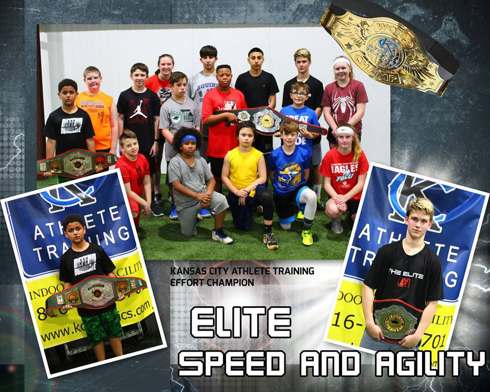 Past Effort Champions for their effort and work ethic in one of the Speed and Agility Classes at Kansas City Athlete Training in Kansas City Missouri